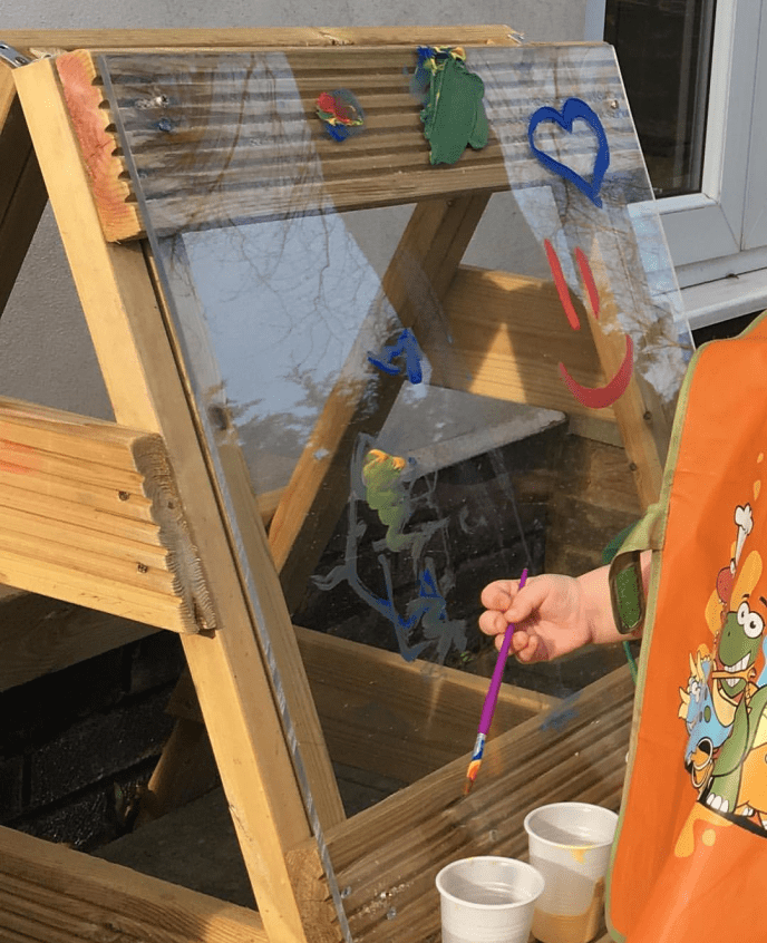 Garden of Our Dreams - Mark Making Matters - Fine motor skills - messy play - outdoors - gardening - mud kitchen - ealry years- writing