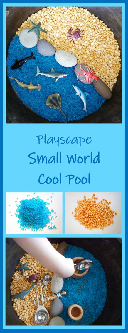 eyfs - toddler - preschool - pre-k - sensory play- messy play - rice play - small world - playscape - playscene - learning through play - play matters