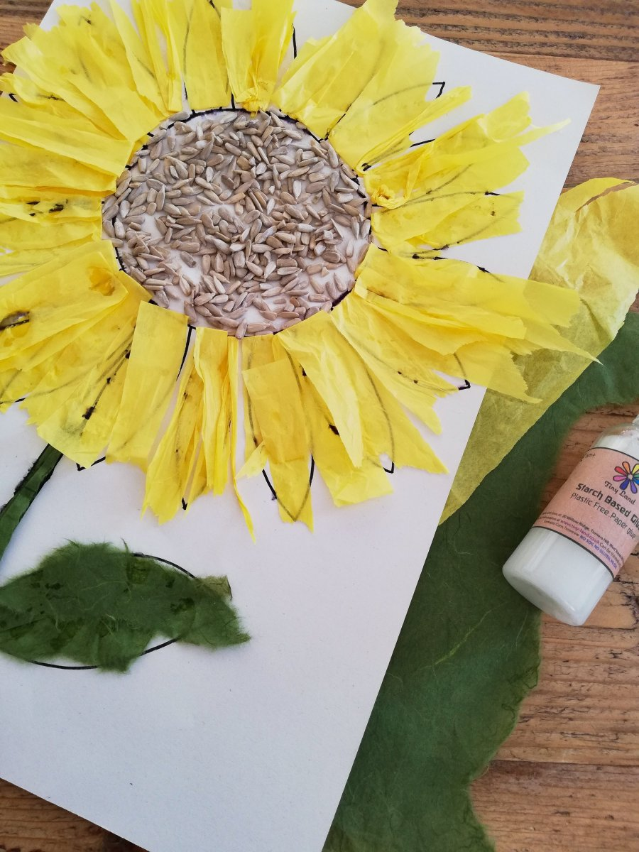 Sunflower Crafts - Painting and Collage - Spring Time