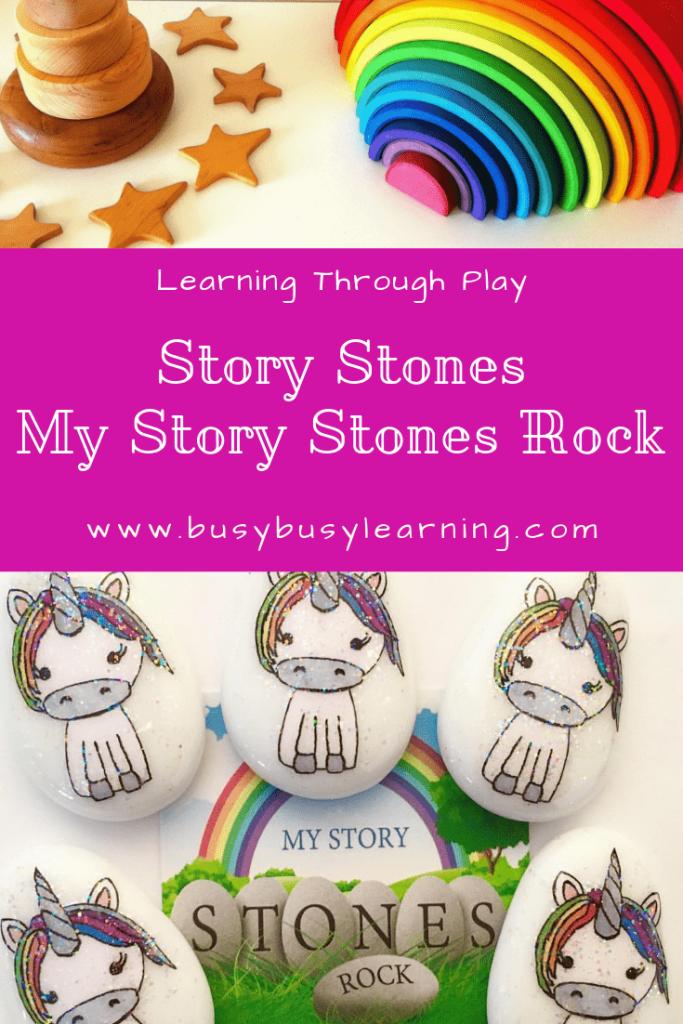story stones - story telling - rock art - stone art - creative play
