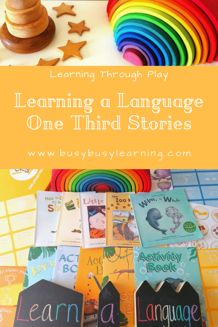 Learning a language - One Third Stories - Teach your child French - Spanish - Italian - German - Clockwork Methodology - Story Box - Foreign languages - Story time - Story books - Great reads