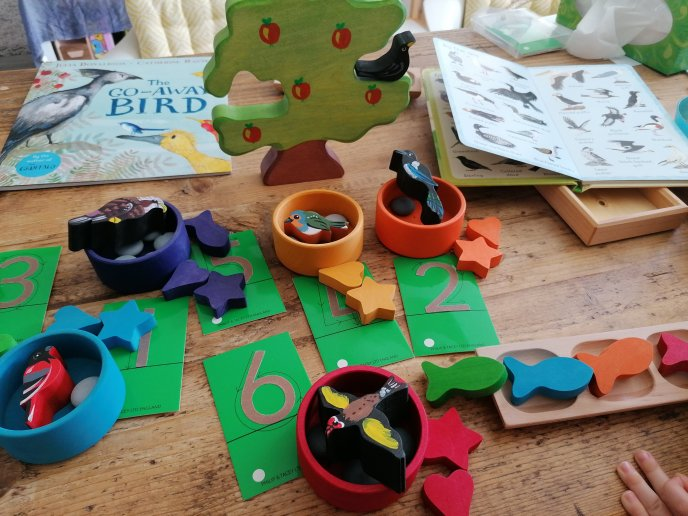 birds - home learning - maths - phonics -learning through play - play matters
