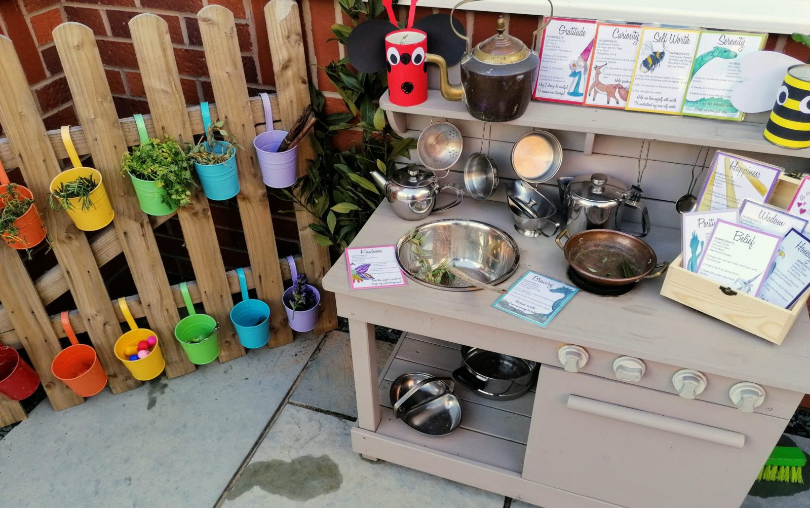 Mud Kitchen - social - language - motor skills - mathematics - messy play - ideas - toddler - early years play