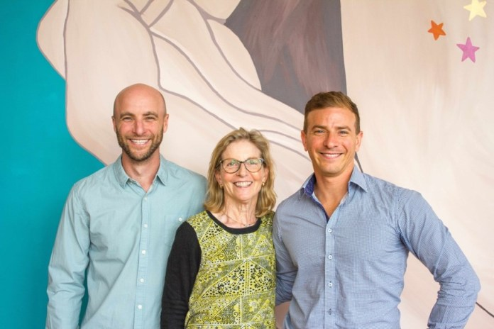 MAPPEN Founder Karen Green with her sons Mark and Danny