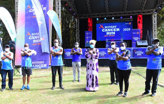 Thousands raise over UGX100M in first ever Virtual Rotary Cancer Run