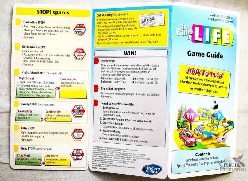 Game Of Life Board Rules Spin To Win Gamesall
