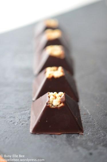 Chocolate nut pyramids