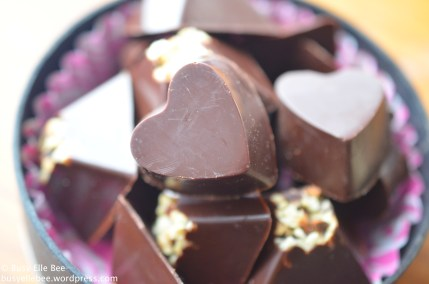 Homemade Valentine's Day Chocolates (c) Busy Elle Bee