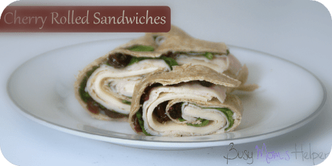 Cherry Rolled Sandwiches / Busy Mom's Helper