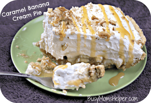 Caramel Banana Cream Pie / Busy Mom's Helper