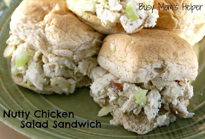 Nutty Chicken Salad Sandwich / Busy Mom's Helper