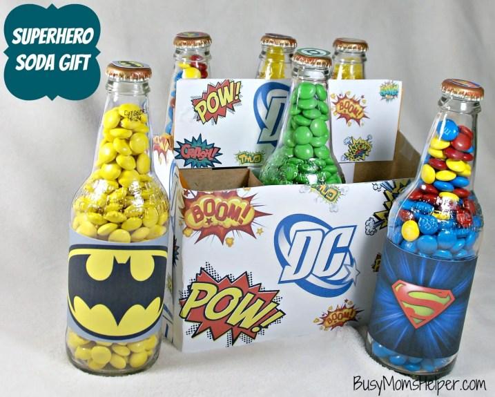 Superhero Soda Gift with Free Printables / Busy Mom's Helper
