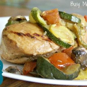 Balsamic Chicken Skillet with Veggies / Busy Mom's Helper