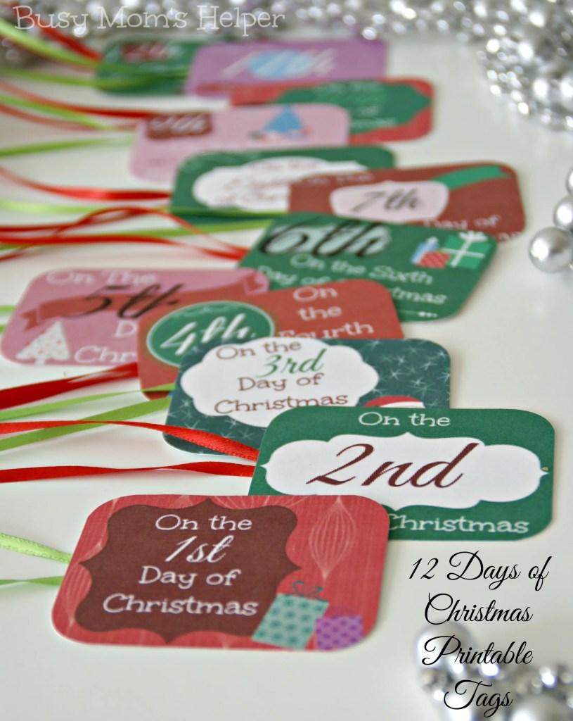 12 Days of Christmas Printable Tags / Busy Mom's Helper