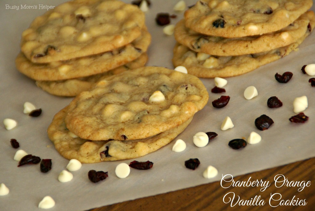 Cranberry Orange Vanilla Cookies / Busy Mom's Helper