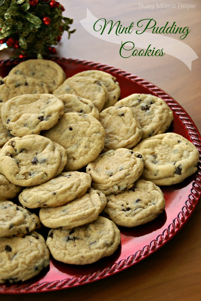 Mint Pudding Cookies / Busy Mom's Helper