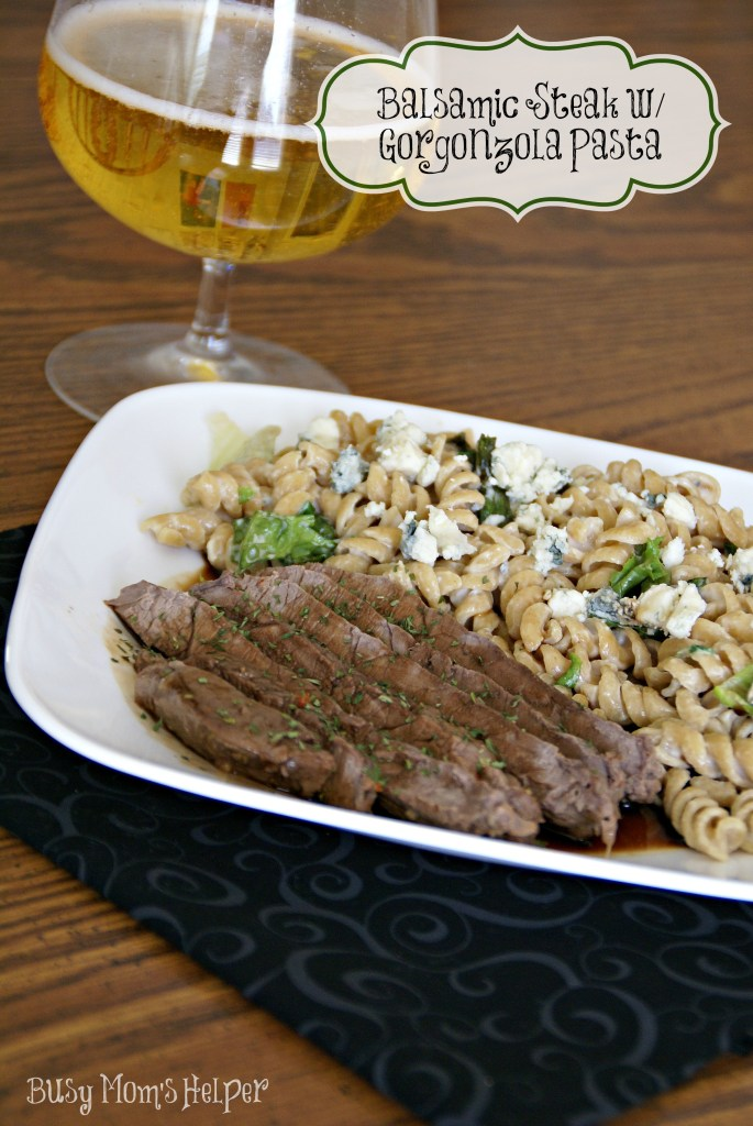 Olive Garden Copy-cat: Balsamic Steak with Gorgonzola Pasta / Busy Mom's Helper