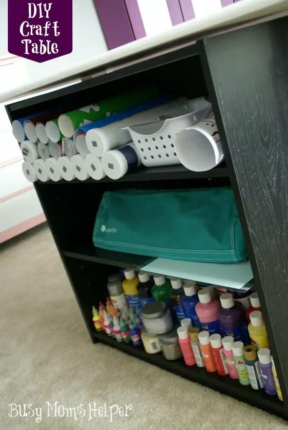 DIY Craft Table Tutorial / by www.BusyMomsHelper.com #craftroom #diytable #remodel