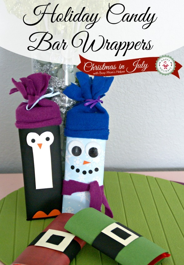 Holiday Candy Bar Wrappers / by Busy Mom's Helper #ChristmasinJuly #Holidays #CandyWrappers #Gift