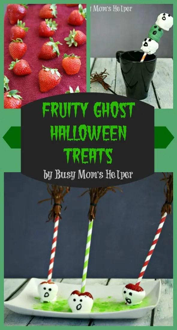Fruity Ghost Halloween Treats / by Busy Mom's Helper #Driscolls #Halloween #Ghosts #Treats
