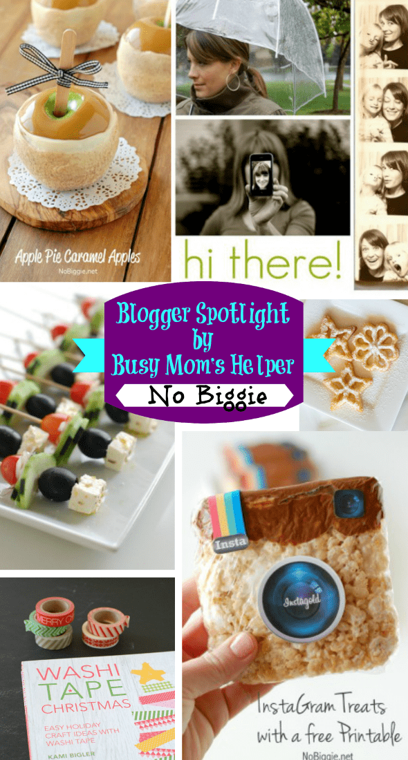 Blogger Spotlight: No Biggie / by Busy Mom's Helper #recipes #parties #roundup