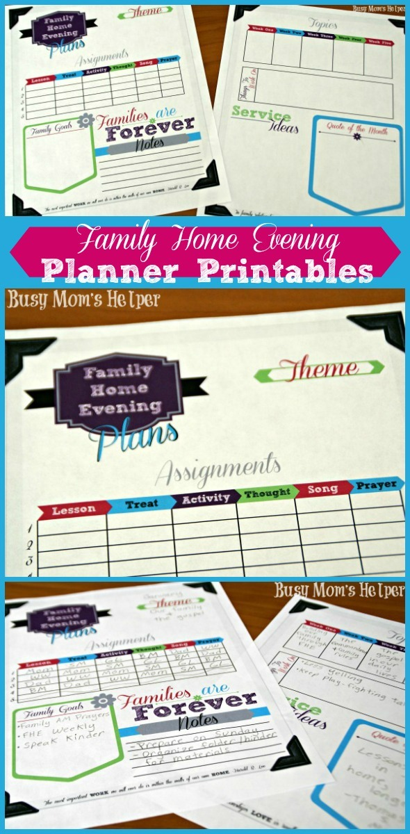 photograph about Mom Planner Printable identify Spouse and children House Night time Planner Printables - Fast paced Mothers Helper