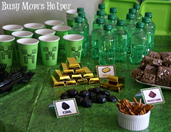 Minecraft Birthday Party / by Busy Mom's Helper #Minecraft #Parties #Printables