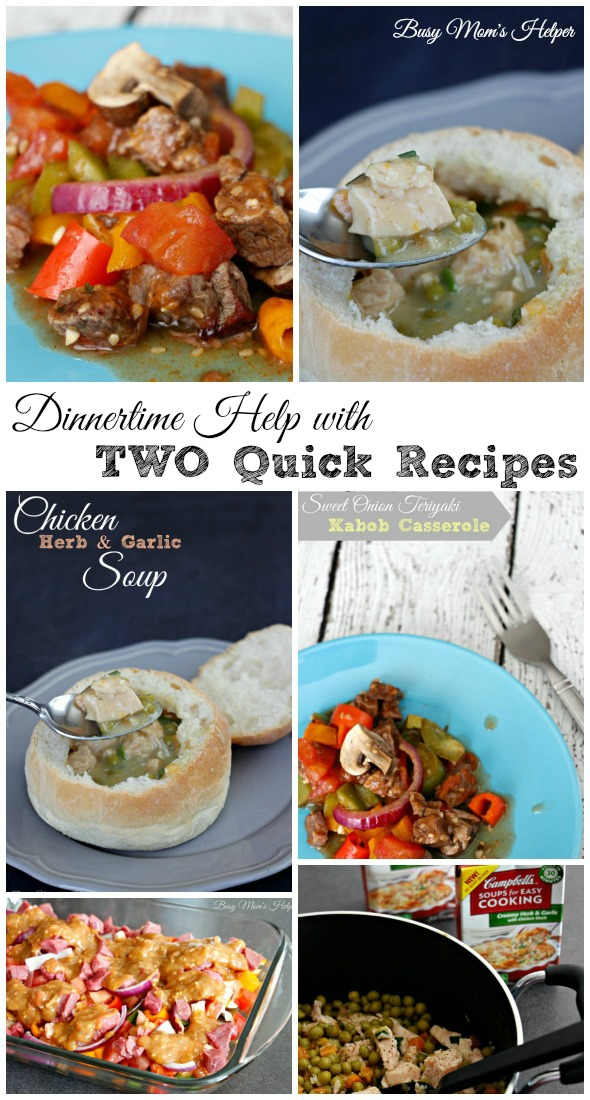 Dinnertime Help with TWO Quick Recipes / by Busy Mom's Helper #WeekNightHero #ad