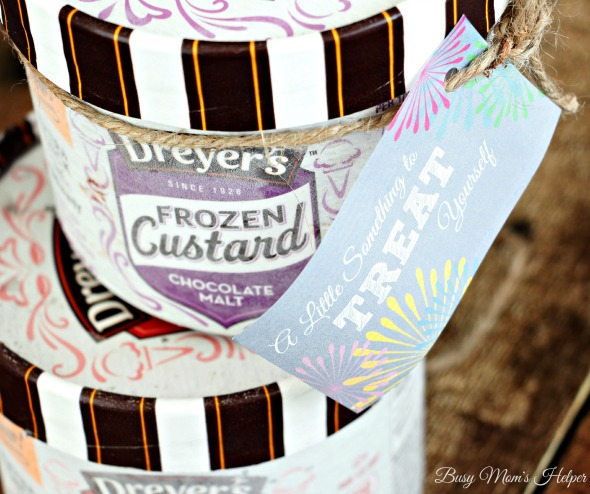 A New Way to Treat Yourself / by Busy Mom's Helper / with Free Printable Gift Tags #FrozenCustardTime #Ad