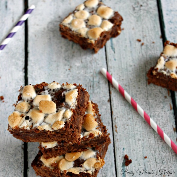 Gooey Brownie Bars/ by Busy Mom's Helper