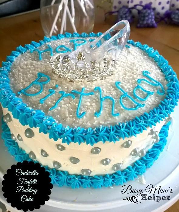 Cinderella Funfetti Pudding Cake by Nikki Christiansen for Busy mom's Helper