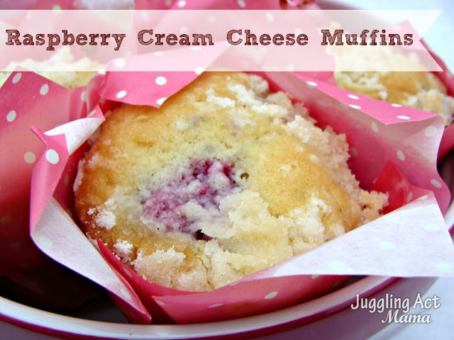 Raspberry Cream Cheese Muffin
