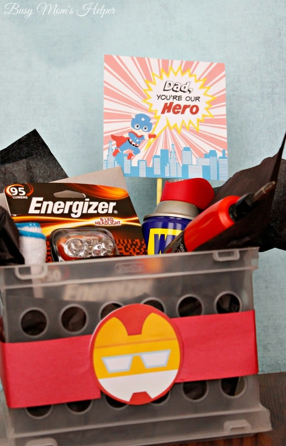Dad Our Hero: Father's Day Gift Basket / http://www.BusyMomsHelper.com #DadsMyHero #ad