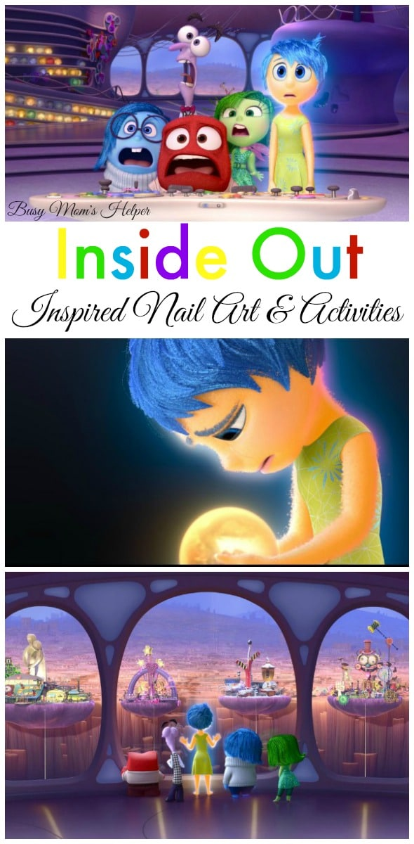 Inside Out Inspired Nail Art and Activities / Free Printables / Busy Mom's Helper / Disney / Pixar