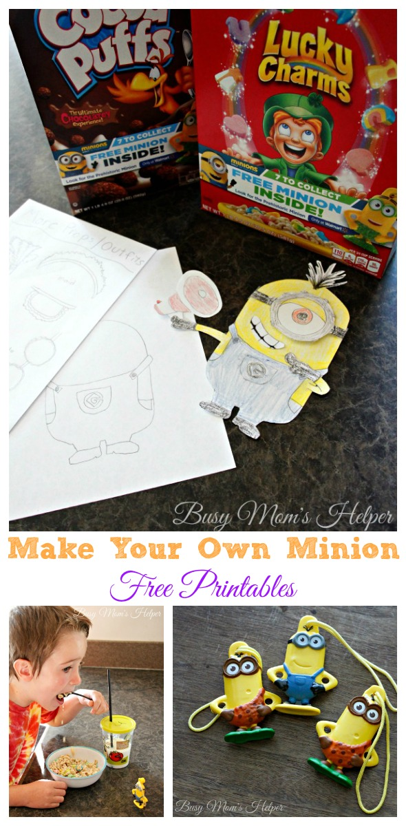Make Your Own Minions Free Printables / by Busy Mom's Helper #The7thMinion #ad
