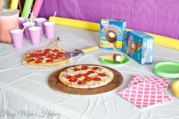 Summer Pizza Party / by Busy Mom's Helper / Strawberry Brazilian Lemonade Recipe / How to Easily Create Pizza Sugar Cookies / #FlavorYourSummer #ad