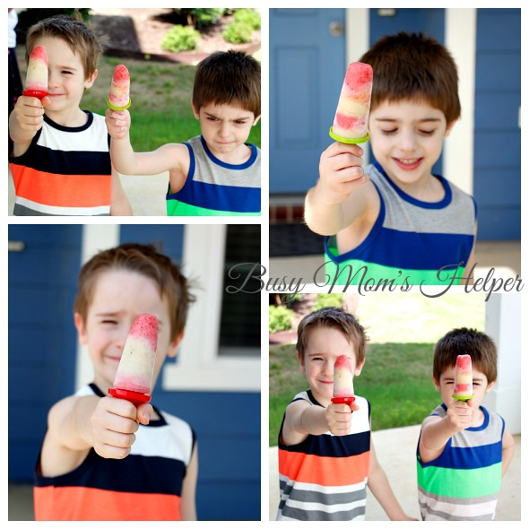 Homemade Fruit and Yogurt Popsicles / https://busymomshelper.com #HelloSummerFun #IC #ad