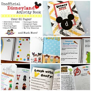 Unofficial Disneyland Activity Book