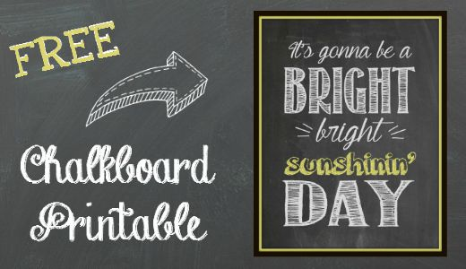 Free Chalkboard Printable