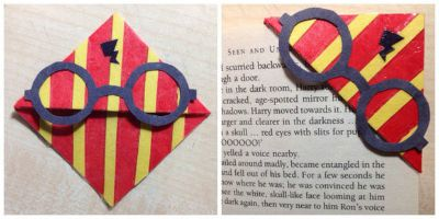 Harry Potter Corner Bookmark / on Instructables / Round up by Busy Mom's Helper