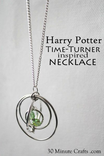 Harry Potter Time Turner Inspired Necklace / by 30 Minute Crafts / Round up by Busy Mom's Helper
