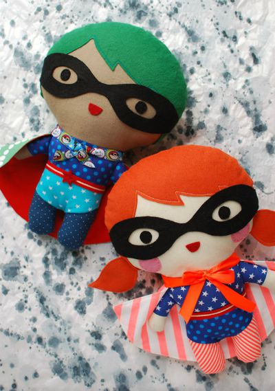 Make your own Superhero Soft Toy / by Tuts+ / Round up by Busy Mom's Helper