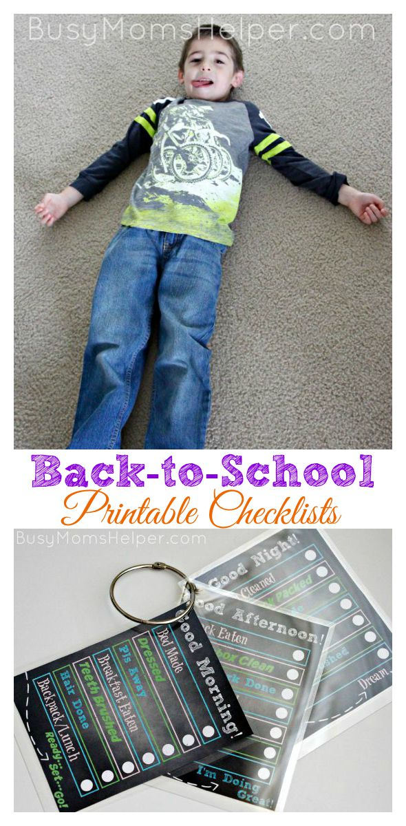 Back to School Printable Checklists / by Busy Mom's Helper #backtobgosh #bgoshjeanius