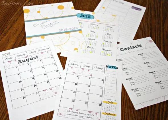 Free Printable 2015-2016 Planner / by Busy Mom's Helper / Free Printable Calendar