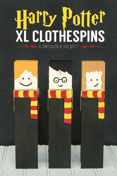 Harry Potter Clothespins / by Tried and True Blog / Round up by Busy Mom's Helper