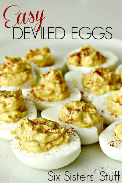 Easy Deviled Eggs / by Six Sisters' Stuff / Round up by Busy Mom's Helper