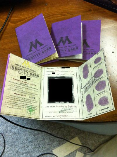 Ministry of Magic Identification Card / found on The RPF / Round up by Busy Mom's Helper