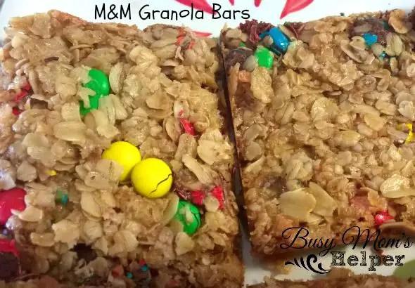M&M Granola Bars by Nikki Christiansen for Busy Mom's Helper