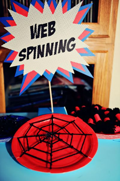 Spiderman Party Games / from The Party Wall / Round up by Busy Mom's Helper