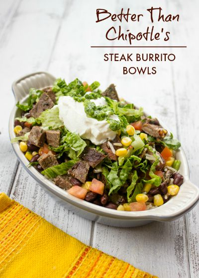 Better than Chipotle Steak Burrito Bowls / by Gimme Delicious / Round up by Busy Mom's Helper